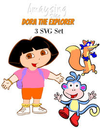 Dora the Explorer 3 SVG set Amaysing SVGs