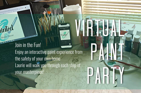 Painted Home Decor Virtual Paint Party July 13, 2020 North Port FL 34287