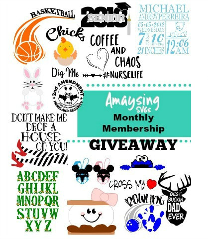 Amaysing SVGs Monthly Membership Giveaway