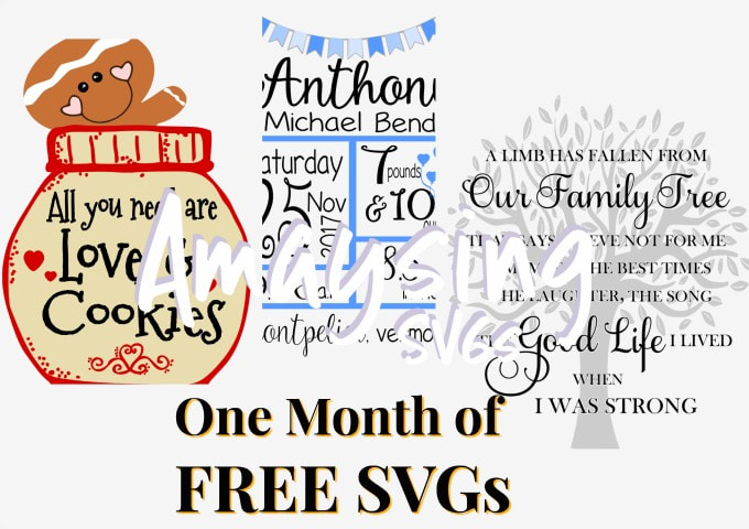 One Month of Free SVGS at Amaysing SVGS.com