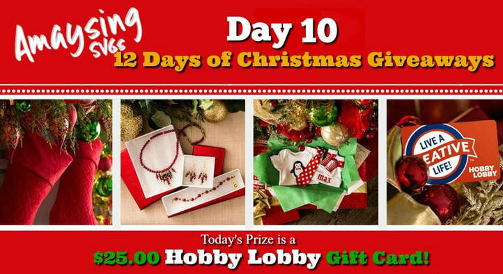 12 days of Christmas Giveaways Day 10 Prize - Amaysing SVGS.com