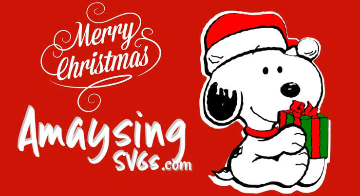 Merry Christmas Snoopy Free SVG - AmaysingSVGS.com