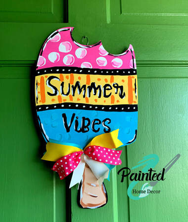 Painted Home Decor Summer Vibes Popsicle