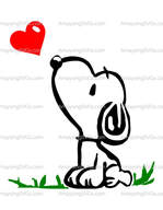 Snoopy Heart SVG - Amaysing SVGS
